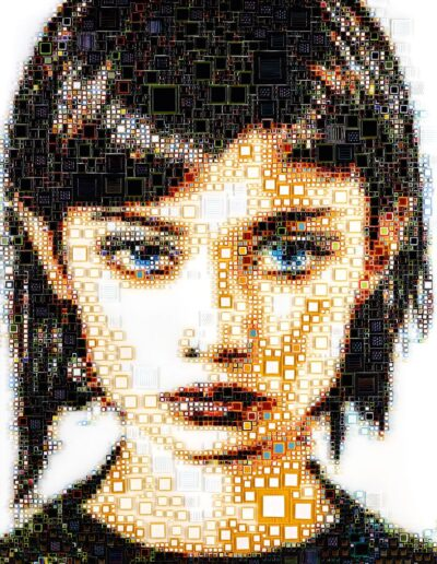 An artwork of Isabelle called 'Pixi'