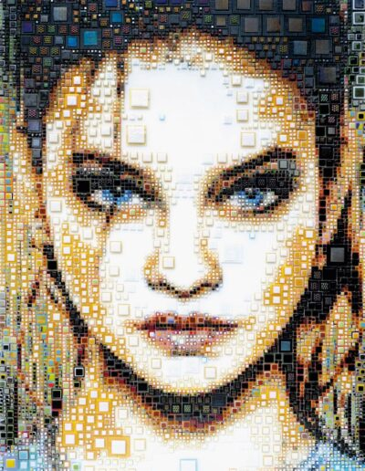 An artwork of Isabelle called 'Behind blue eyes'